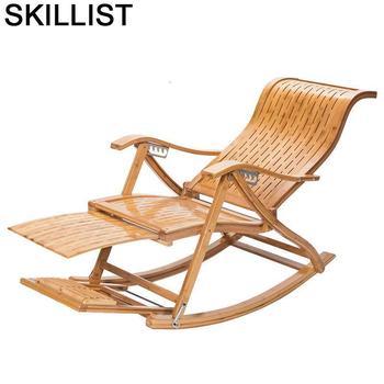 Sofá Moderno mecedora Plegable Para Sala de estar, Cama Plegable de bambú,...