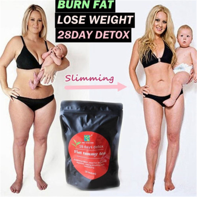 <font><b>28</b></font> <font><b>Days</b></font> <font><b>Detox</b></font> Weight Loss Tea Chinese Herbal Health Diet Slimming Aid Burn Fat Thin Belly Prett Scented Tea Slimming Tea image