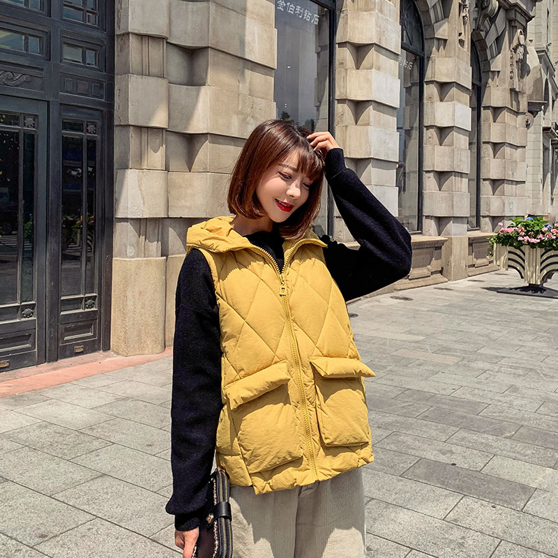 Diwish Hooded Women's Vest Coat Winter Casual Sleeveless Jacket Women Plus Size XXL 2019 Warm Waistcoat Female Winter Clothes
