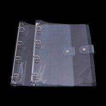 1Pc Transparent Color Plastic Clip File Folder A4 Notebook Loose Leaf Ring Binder Planner Agenda School Office Supplies