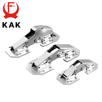KAK 90 Degree Cabinet Hinges 3 Inch No-Drilling Hole Soft Close  Spring Hinge Cupboard Door Furniture Hardware With Screws stainless steel no drilling hole cabinet hinge bridge shaped hinge buffer cabinet cupboard door hinges furniture hardware
