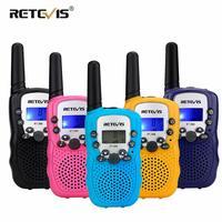 2pcs RETEVIS RT388 Kids Walkie Talkie Mini Two way Radio Christmas Gift PMR PMR446 FRS VOX Flashlight 2 Way Radio Children Toys