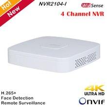 Dahua 4 canales WizSense grabador de vídeo en red NVR2104-I H.265 + cara reconocimiento AI 4CH NVR para sistemas de cámaras IP Onvif apoyo