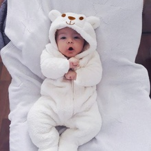 2020 New Cute BABY Newborn Baby Boy Girl Clothes Long Sleeve Hoddies Bear Zipper Baby Romper Clothes Autumn Winter Wear 0-18M