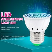 48led 60led 80led E14 Germicidal Light UVC Lamp Sterilizer E27 LED UV Desinfection GU10 Ultraviolet Bulb MR16
