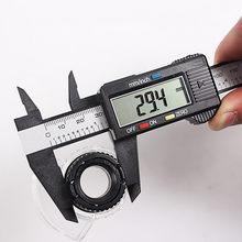 Régua digital eletrônica de fibra de carbono, 150mm 6 polegadas, lcd, medidor de calibre, micrômetro, ferramenta de medição, calibre digital