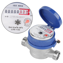 "Water Meter 15mm 1/2"" Dry Water meter Garden Home Plastic Cold Water Meter Single Water"