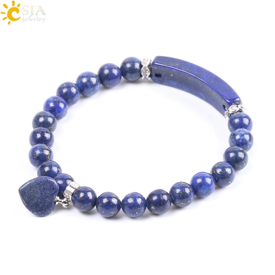 Natural Stone Bracelets 8mm Blue Stone Beads Women Bangles Handmade Summer Pulsera F106