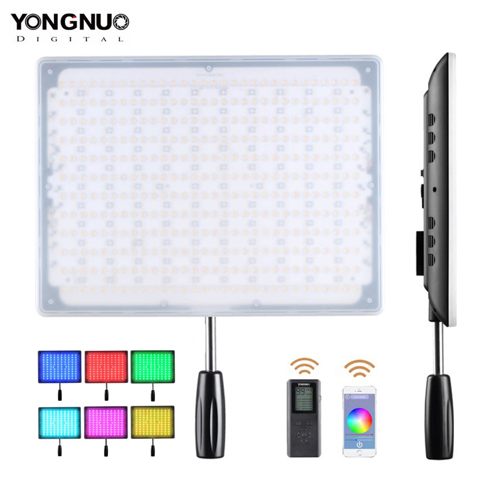 <font><b>YONGNUO</b></font> <font><b>YN600</b></font> RGB LED Video Light Adjustable Bicolor 3200K-5500K Dimmable Wireless Bluetooth Remote for Canon Nikon image