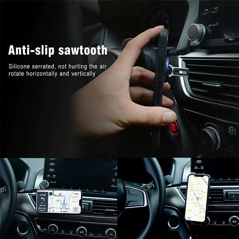 Multipurpose Mobile Phone Holder 360 Degree Car Air Vent Grip Mount Stand Rotation Magnetic Finger Ring Phone Holder Bracket-3pcs