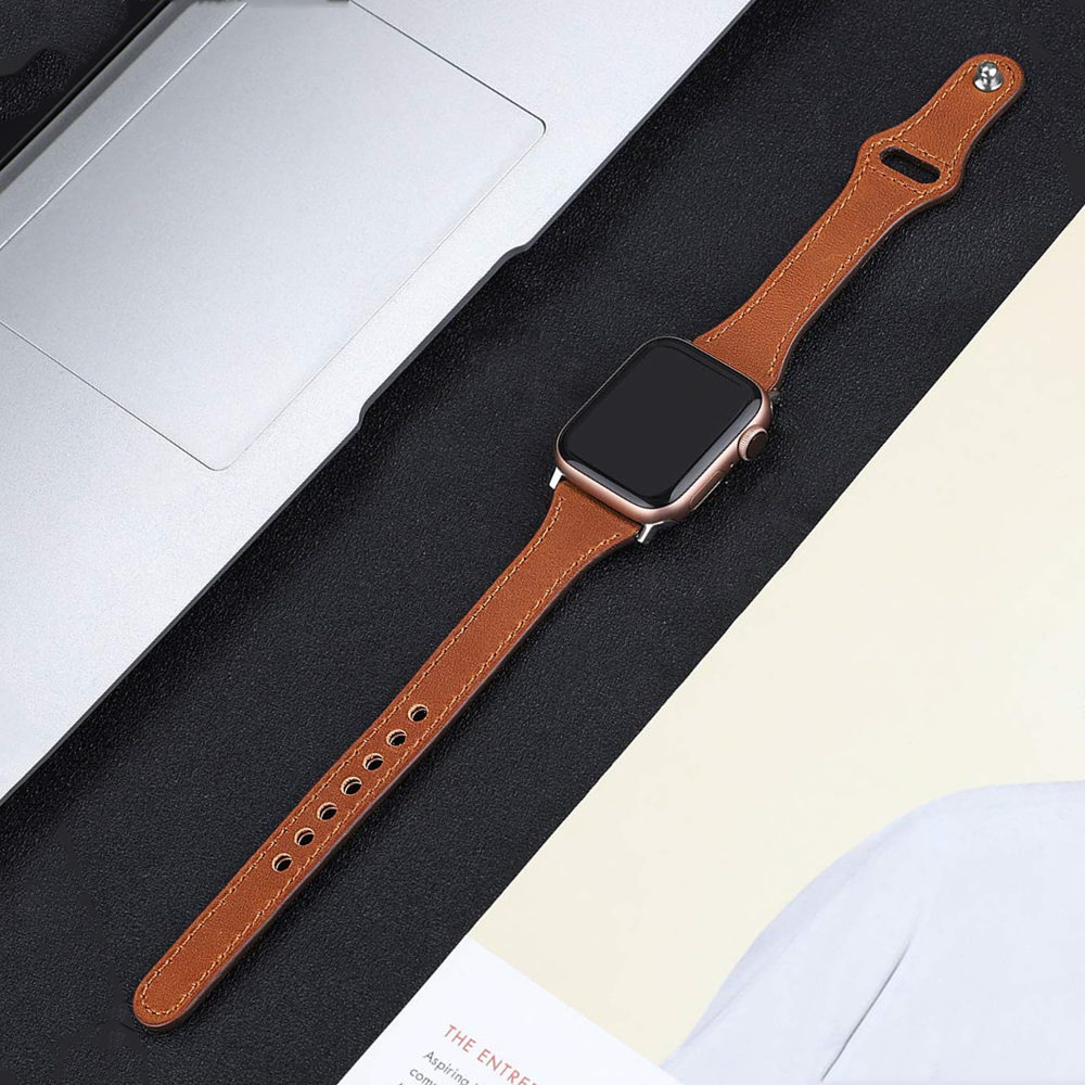 Leather Loop Strap For Apple Watch 5 Band 40mm 44mm IWatch Band 38mm 42mm Slim Watchband Bracelet Apple Watch 4 3 2 1 40 38 Mm
