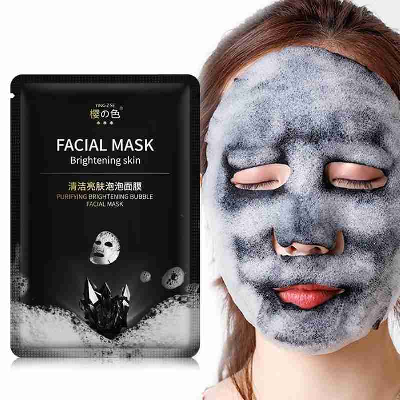 Brightening Bubble Facial Mask Moisturizing Cleaning Pores Face Cleansing Mask Facial Sheet Mask Whitening Skin Care image