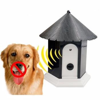 Pet Dog ultradźwiękowy odstraszacz przeciw szczekaniu pies na zewnątrz kontrola kory trener szczekanie Stop trening wyposażenie wyposażenie dla psy domowe tanie i dobre opinie Kora Deterrents Z tworzywa sztucznego