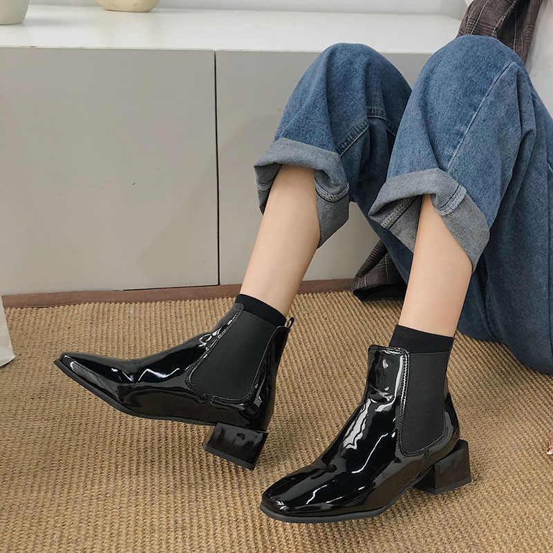 Women's boots 2020 popular new patent