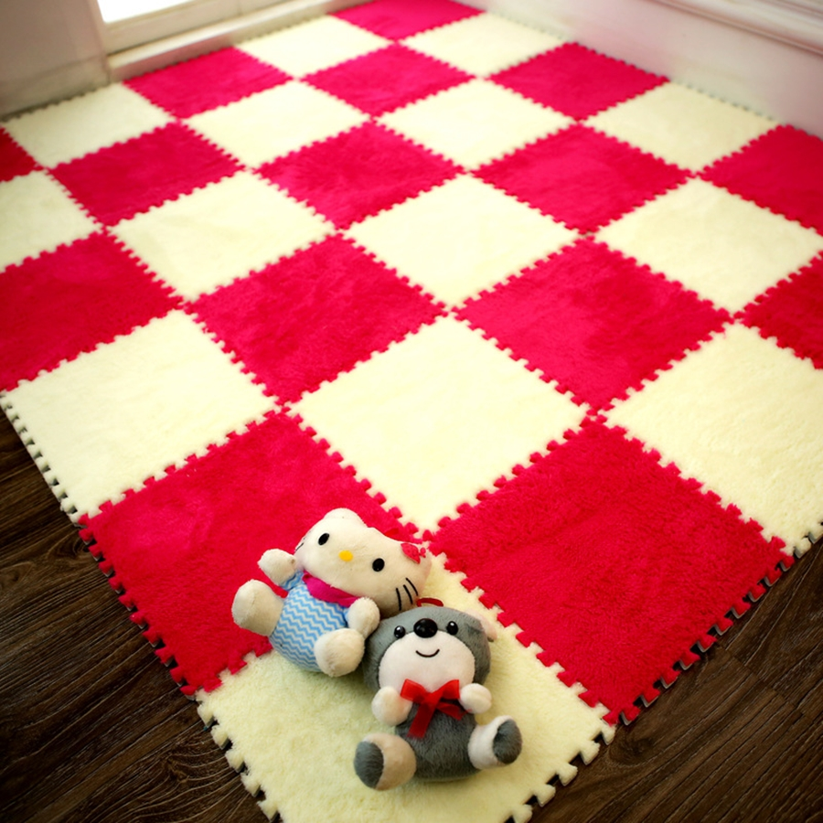 Top Sale 30*30*1cm Living Room Bedroom Children Kids Soft Carpet Magic Patchwork Jigsaw Splice Heads  Baby Climbing Mat 1pcs