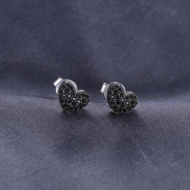 Black Spinel Stud Earrings