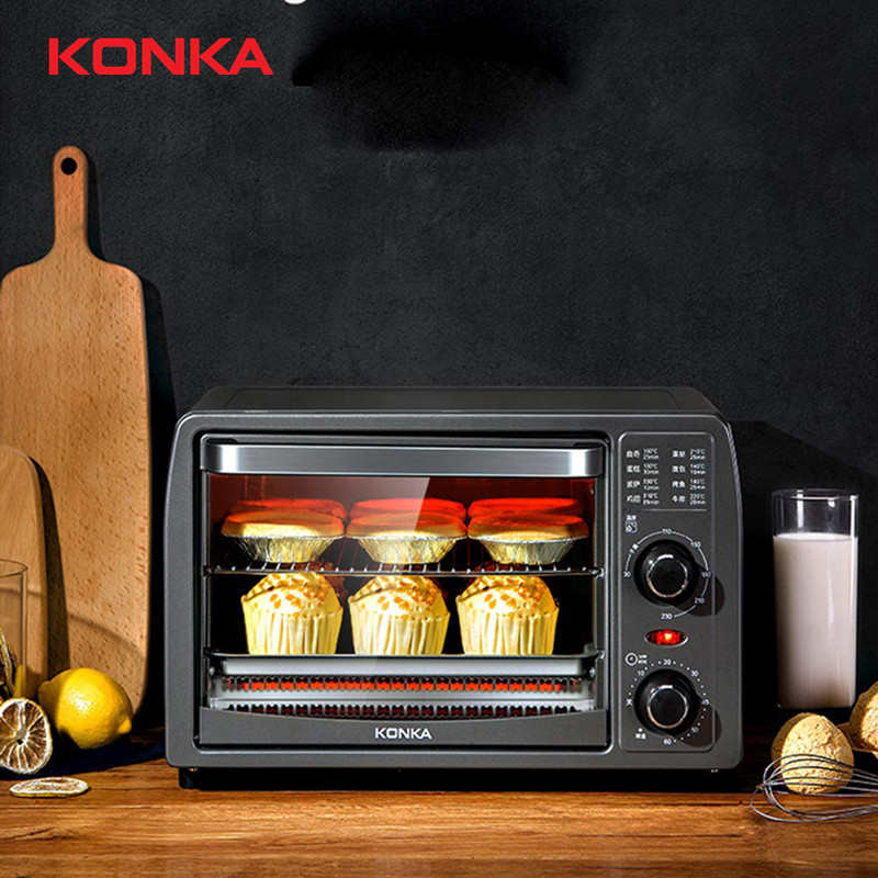 Baking / Barbecue / Dried Fruit Mini Oven 13L Electric Recessed Brass Electric Range Oven Electric Built-in Household Appliances