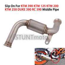 Motorcycle Exhaust Escape Connection Middle Link Pipe Slip On For KTM 125 250 390 DUKE RC390 2017 2018 2019