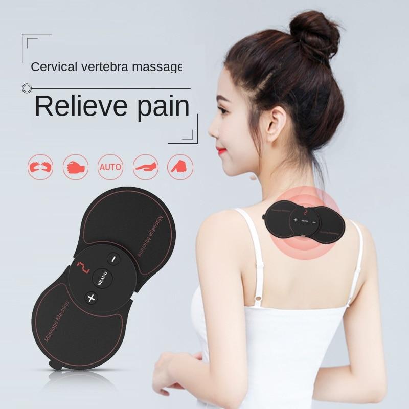 TENS parche de masaje en el cuello masajeador multifuncional para el cuello pierna brazo fisioterapia de masaje en el cuello Mini parche de masaje Cervical