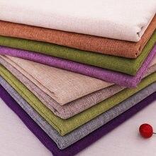 Tissu en lin de 150cm de largeur, tissu solide pour rideaux et canapé à coudre, à faire soi-même