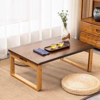 Home Folding Low Floor Table Modern Minimalist Tatami Coffee Table Solid Wooden Furniture Japanese Tea Table For Living Room oriental antique furniture design japanese floor tea table small rectangle home living room wooden coffee tatami low table wood