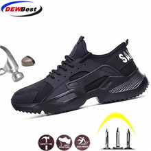 Sneakers Work-Boots Work-Safety-Shoes DEWBEST Steel-Toe Anti-Smashing Soft-Bottom Ultra-Light