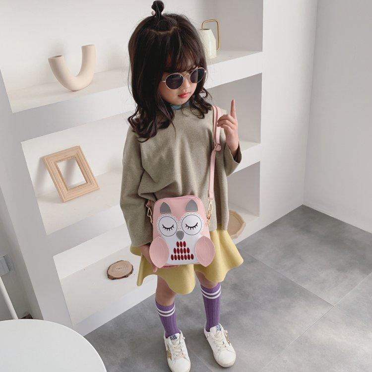 2020 New Style Fashion Cartoon Owl Shell Bag Women's Children Triple Use Multi-functional Shoulder Backpack Bag Women's