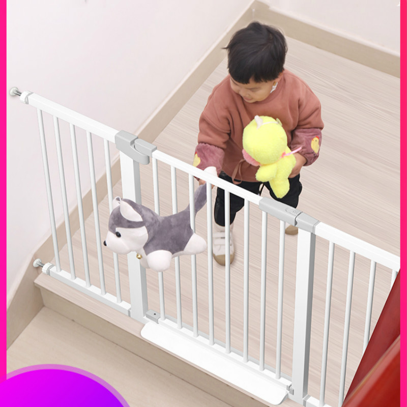 Baby Stair Fence Guardrail Child Safety Fence Free Perforated Fence Guard Railing Pet Dog Isolation Doorways Rail Safety Gates