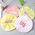 Многоразовая эластичная Милая Водонепроницаемая шапка для ванны с фруктовым дизайном, шапка для волос в салоне, шапки для душа для девочек, ...