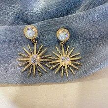 Statement Sunflower Drop Earrings For Women 2019 New Classic Personality Fashion Jewelry Oorbellen