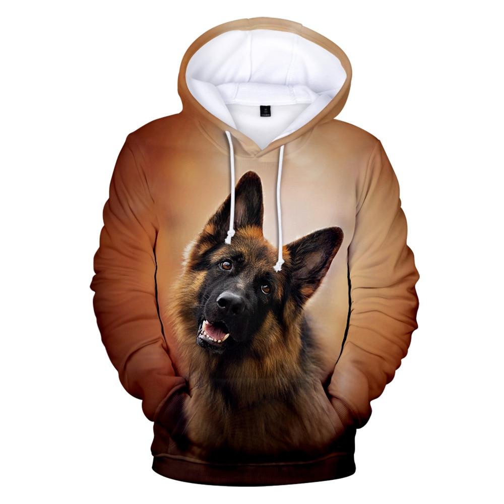 New Arrival German Shepherd Hoodies Sweatshirt High Quality Pullover Dog Lovers Men/women Autumn Winter Hoodies Sportswear
