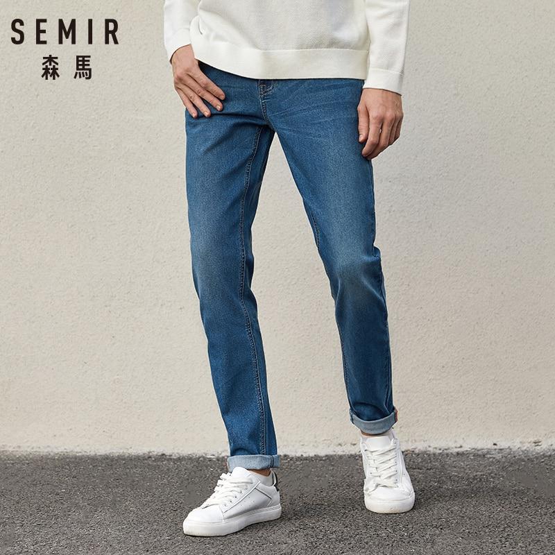 SEMIR Jeans Men 2020 Spring Autumn New Korean Cotton Slim Pants Men's Retro Youth Soft Casual Jeans Cotton For Male