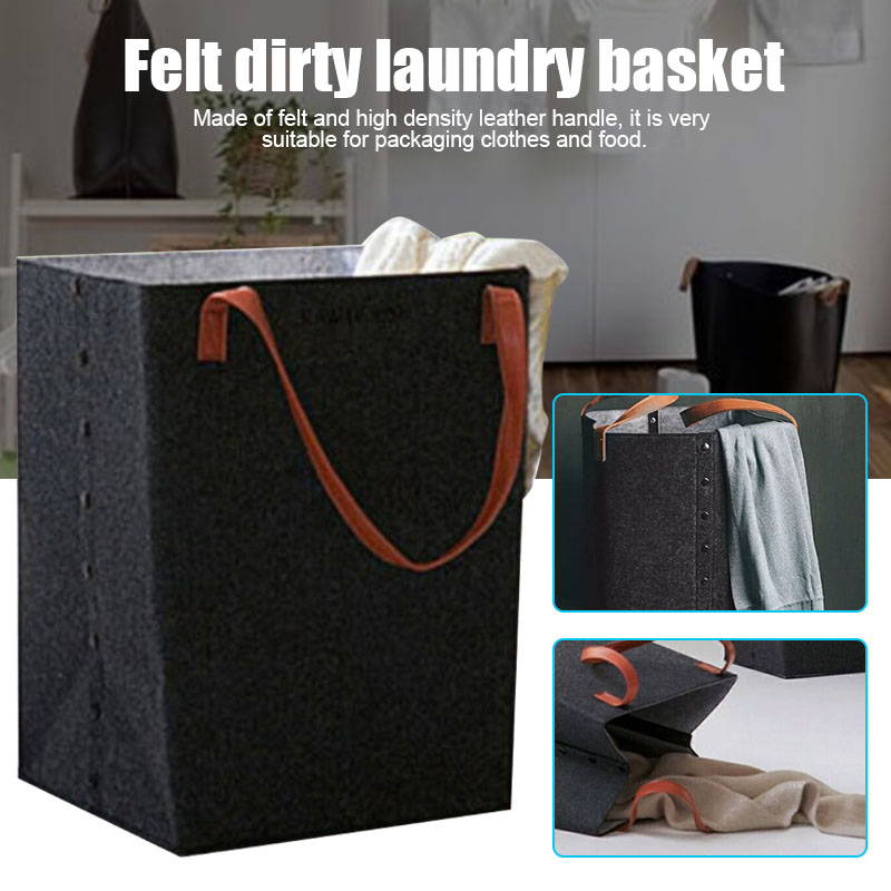 Foldable Laundry Hamper Basket With Handle Sorter Organizer Storage Box Home Supplies SLC88