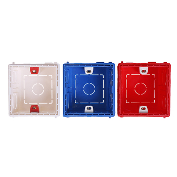 Atlectric Adjustable Mounting Junction Box Internal Cassette 86 Type Switch Socket White Red Blue Wiring Back Box image