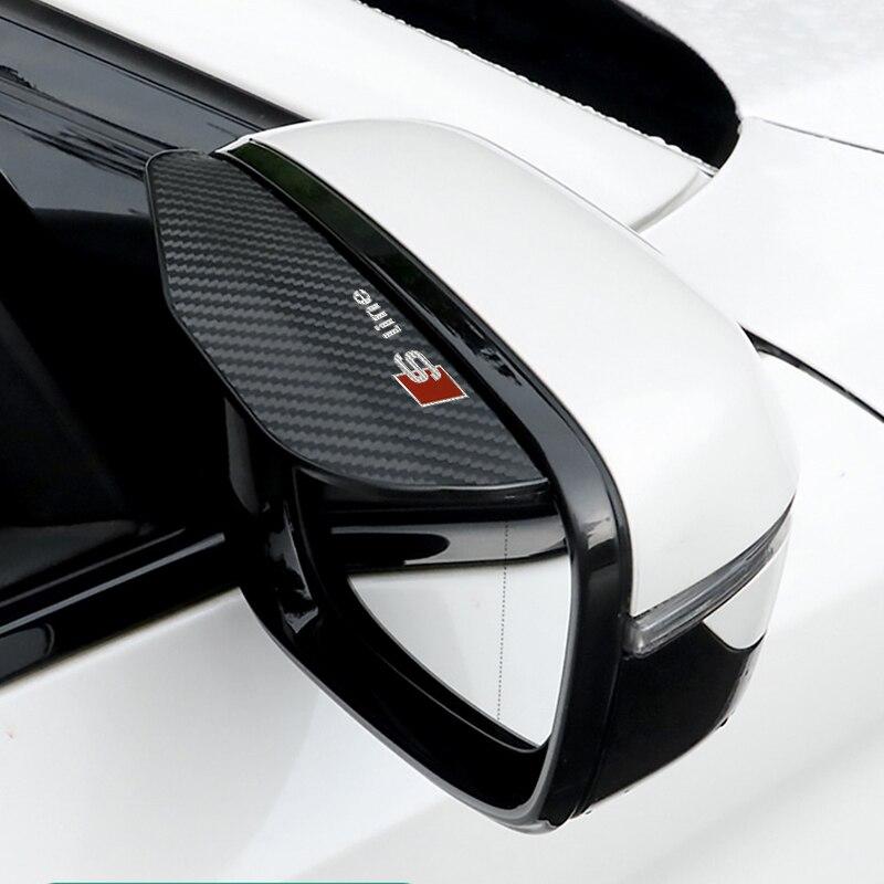 2 шт. Автомобильное зеркало заднего вида, солнцезащитный козырек от дождя, универсальный Стайлинг для AUDI A1 A3 A4 A5 A7 A8 Q3 Q5 Q7, автомобильные аксес...