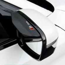 2 pçs espelho retrovisor do carro chuva sobrancelha viseira de sol universal estilo para audi a1 a3 a4 a5 a7 a8 q3 q5 q7 acessórios automóveis