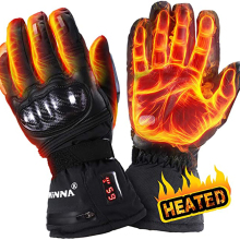 Heating-Gloves Winter Motorcycle Waterproof Women 5-Fingers New for Riding Skiing 65-Celsius