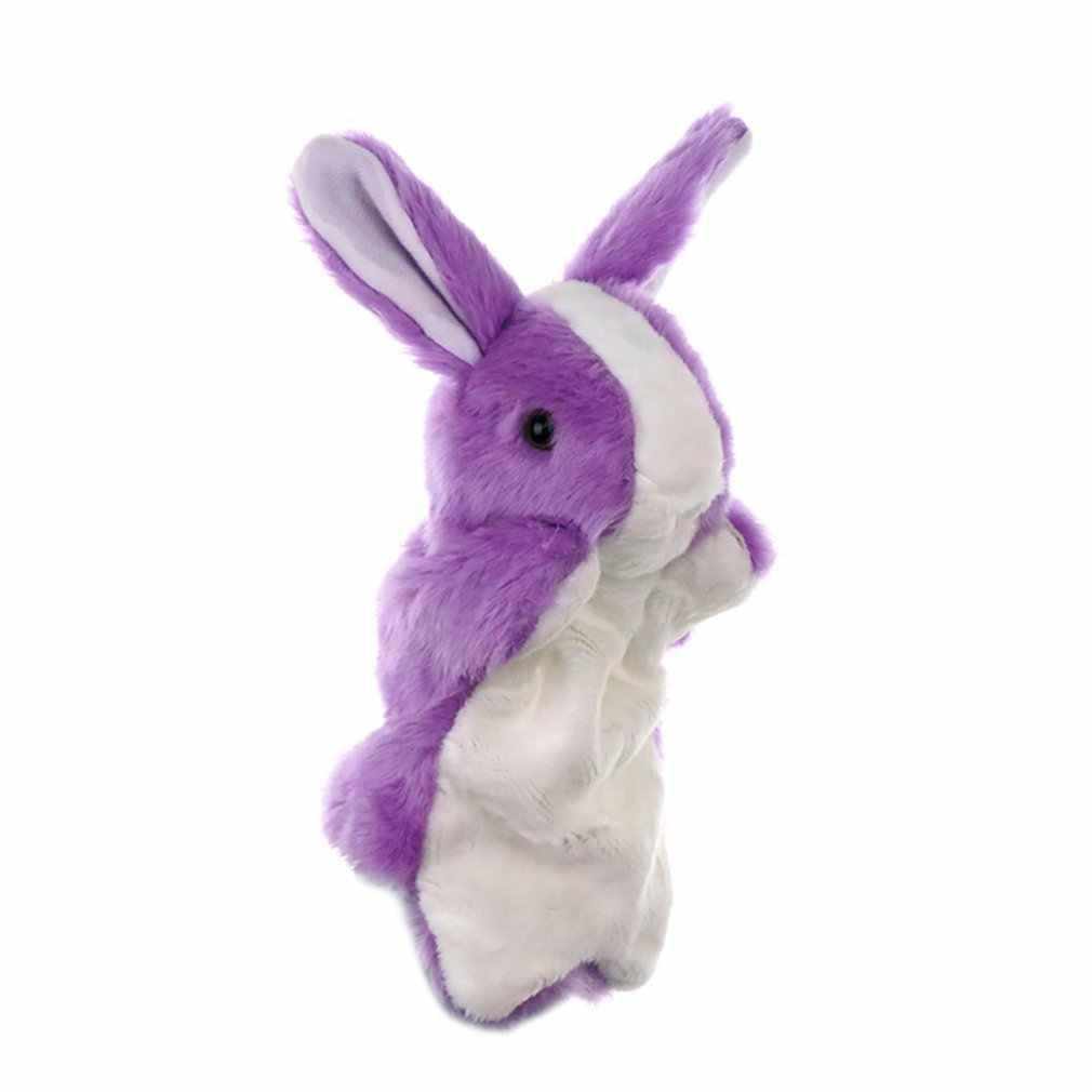 Peluche main marionnette lapin accessoires préscolaires Parent-enfant enfants poupée Simulation Animal en peluche