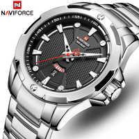 Men's Watches NAVIFORCE Top Luxury Brand Analog Watch Men Stainless Steel Waterproof Quartz Wristwatch Date Relogio Masculino