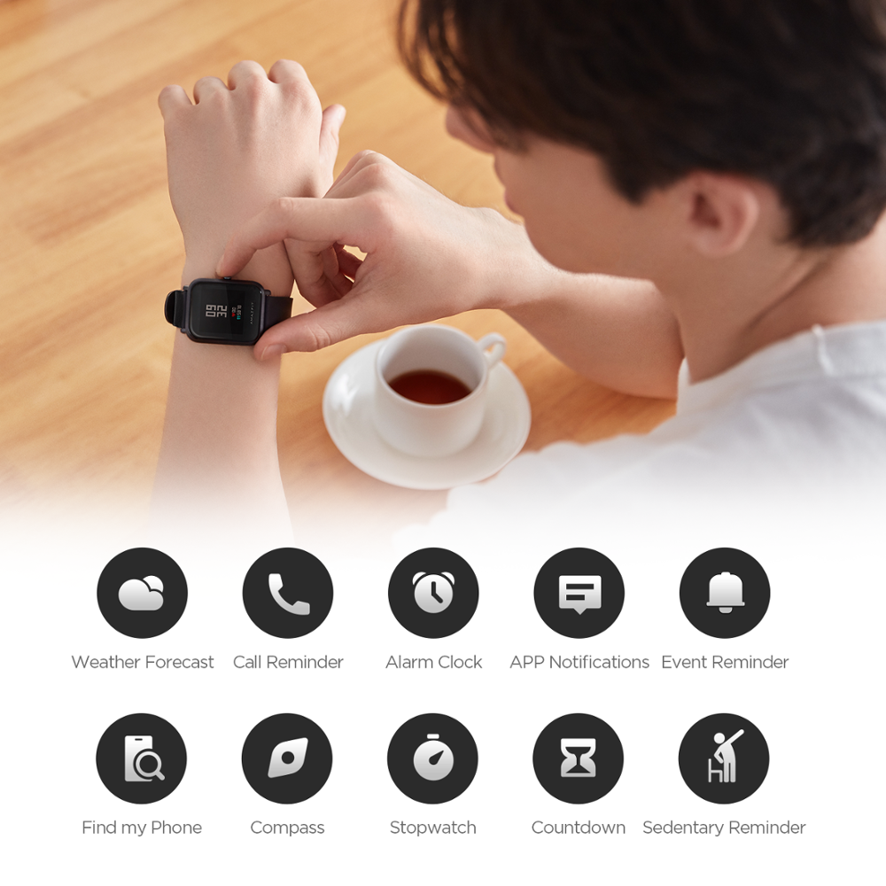 Image 4 - In Stock Global Version Amazfit Bip Lite Smart Watch 45 Day Battery Life 3ATM Water resistance Smartwatch For Xiaomi New 2019-in Smart Watches from Consumer Electronics