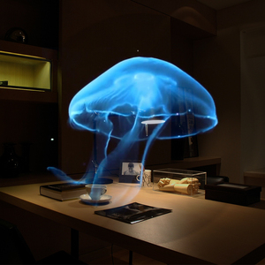 Image 5 - 3D wifiホログラムプロジェクターライト広告ディスプレイledホログラフィランプリモートled 3dディスプレイ広告ロゴライト
