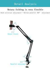 Image 4 - Светодиодный светильник, заполняющая лампа, софтбокс с отражателем, Настольная подвеска, кронштейн для телефона, видеосъемка в реальном времени, стол для фотостудии