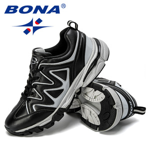 Image 5 - BONA 2019 New Designers Leather Running Shoes Men Outdoor Sneaker Shoes Casual Breathable Shoes Jogging Tennis Shoes Man Trendy