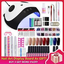 Manicure Set 36W Dryer Lamp For Nails Gel Nail Polish Extension 10 Colors Varnish 8 ML