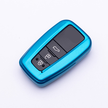 Colorful New ABS Painted Car Remote Key Case Cover Shell For Toyota Prius Camry Corolla C-HR CHR RAV4 Prado 2017 2018 Protector for toyota camry corolla c hr chr prado 2018 aluminum alloy leather automobile car remote key case cover shell protector