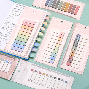 200 Sheets/Pack Waterproof Planner PET Stickers Morandi Translucent Sticky Notes Index Bookmark School Stationery Supplies
