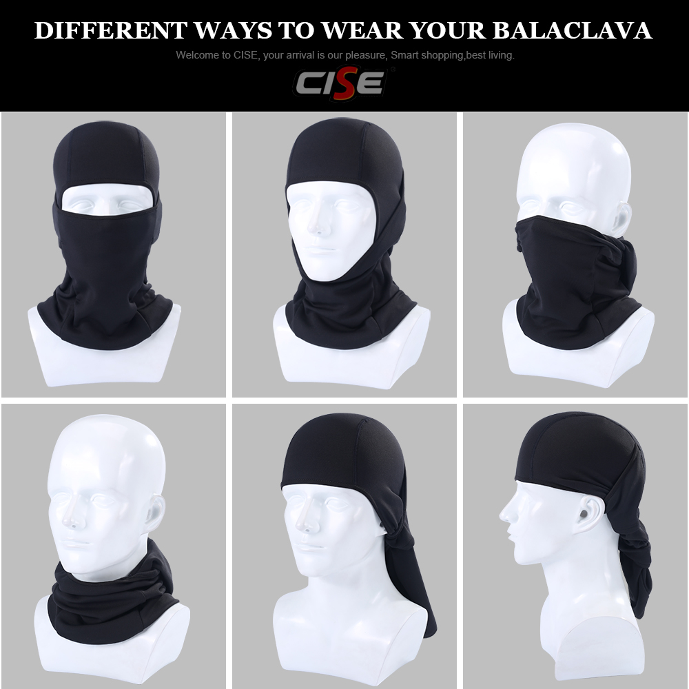 Image 5 - Motorcycle Balaclava Full Face Mask Flexible Warm Helmet Liner Riding Ski Paintball Bicycle Biker Snowboard Windproof Moto Hat-in Motorcycle Face Mask from Automobiles & Motorcycles