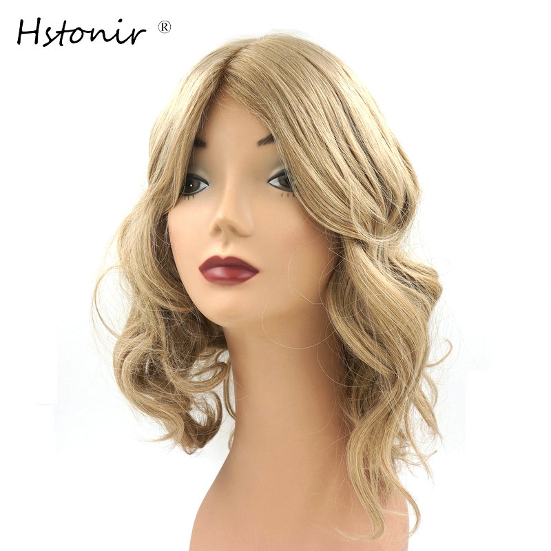 Hstonir Jewish Wig Pure Certificated European Remy Hair Kosher Wig Silk Top Natural Looking Cusomized Order