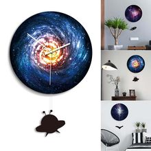 1 Pcs Wall Clock Black Hole Round Removable Durable for Home Bedroom Office @LS(China)