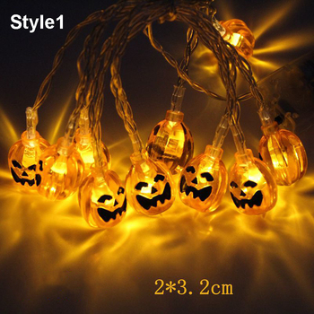 3M 20LED Halloween Pumpkin LED String Lights Christmas Outdoor Decoration Garlands Horror LED Light String Party Holiday Decor brand new 1 2m 10 bulbs pumpkin battery string led lights halloween holiday light lighting decoration led